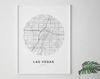 Las vegas map poster | Etsy