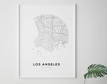 Map of los angeles Etsy
