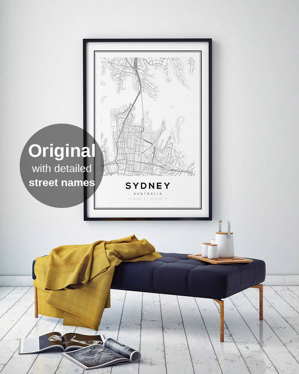 sydney map print sydney city sydney map poster australia city map print black and white map australia map print digital wall art