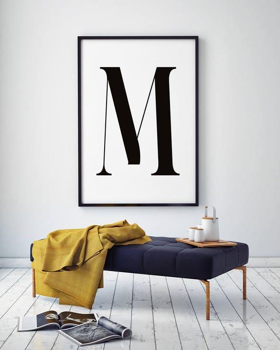 Lettre M Affiche Imprimable Affiche Scandinave Copie De La Lettre M Nordique Affiche Affiche Minimaliste Lettre M Affiche Impression Numérique