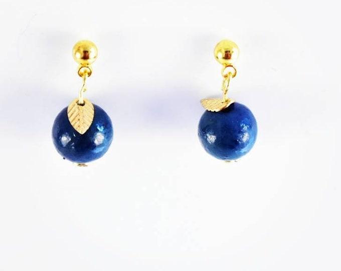 Blueberry Earrings, Fruit Jewelry,  Garden Jewelry, Boho Jewelry, Boho, Give Back, Ethical Earrings, Sustainable Jewelry, Eco Jewelry,