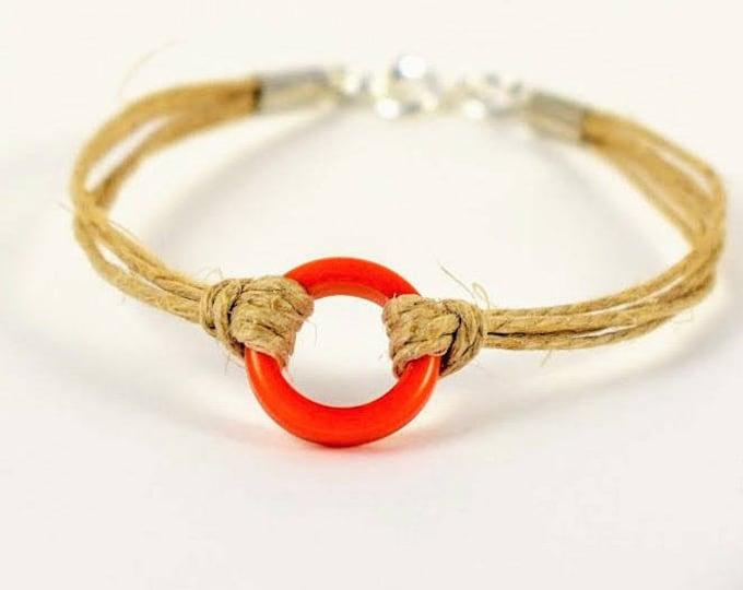 Hemp Bracelet, Tagua Jewelry, Ethical Jewelry, Sustainable Jewelry,  Handmade in the USA