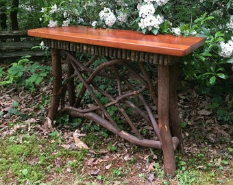Rustic Furniture, Adirondack Mountain Laurel Entry Table, Huntboard, Console, Mountain Furniture, Lodge Furniture Unique Furniture Farmhouse