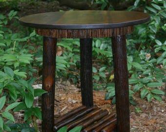 Rustic Furniture, Mountain Modern, Refined Rustic, Rustic Round Table, Hickory Furniture, Lodge Furniture