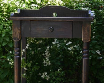 Rustic Farmhouse Washstand, Cottage Table or Nightstand