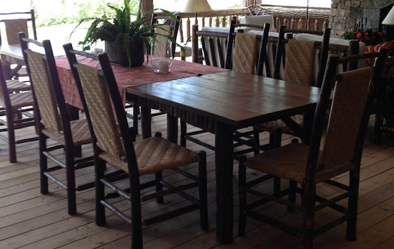 Remarkable Rustic Furniture Dining Chair Hickory Chair Adirondack Chair Farmhouse Furniture Mountain Furniture Dining Room Cabin Furniture Caraccident5 Cool Chair Designs And Ideas Caraccident5Info
