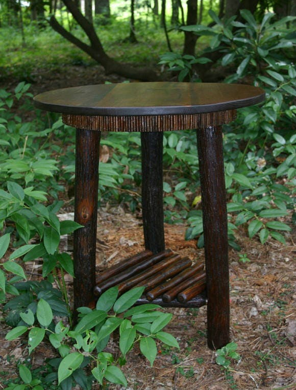 Merveilleux Rustic Furniture, Mountain Modern, Refined Rustic, Rustic Round Table,  Hickory Furniture, Lodge Furniture