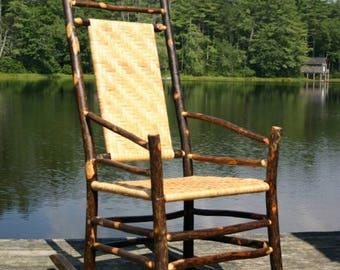 Rustic Furniture, Hickory Cane Rocker