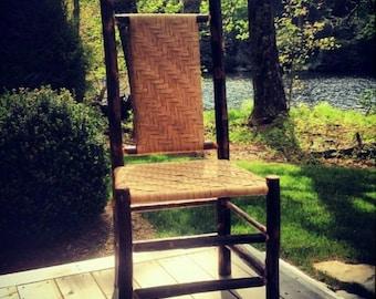 Rustic Furniture, Dining Chair, Hickory Chair, Adirondack Chair, Farmhouse Furniture, Mountain Furniture, Dining Room, Cabin Furniture