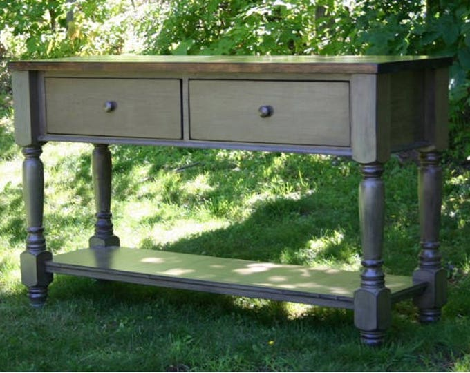 Featured listing image: Rustic Furniture, Farmhouse Console Table