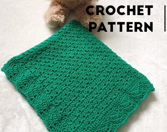 Baby blanket CROCHET PATTERN / Crochet Pattern / Baby Blanket / Newborn / Stroller / Car Seat / Baby Shower / Photo Prop / PDF
