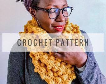 Renaissance Crochet Cowl PATTERN / Crochet Pattern / Bobble Cowl Pattern / Cowl Pattern / Scarf Pattern / Instant Download Pattern / PDF