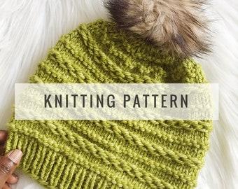 Knit Julia Slouch Beanie PATTERN / Knit Pattern / Knitting Pattern / Hat Pattern / Slouch Beanie / Instant Download Pattern / PDF