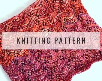 Knit Autumn Leaves Cowl PATTERN / Knit Pattern / Knitting Pattern / Cowl Pattern / Scarf Pattern / Instant Download Pattern / PDF