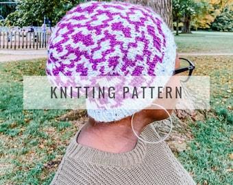 Knit Damaris Slouchy Beanie PATTERN / Knit Pattern / Knitting Pattern / Hat Pattern / Slouchy Beanie / Instant Download Pattern / PDF