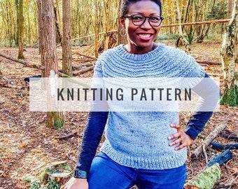 Julia Yoke Sweater PATTERN / Knit Pattern / Pullover Pattern / Sweater Pattern / Yoke Sweater Pattern / Instant Download Pattern / PDF