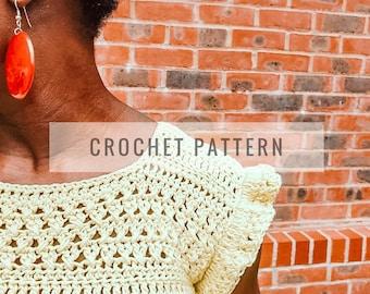 Easy Lace Panel Top PATTERN / Crochet Pattern / Crochet Top / Lace Panel Top Pattern / Summer Crochet Top / Instant Download Pattern / PDF