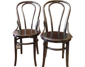 Vintage Bentwood Black Cafe Chairs