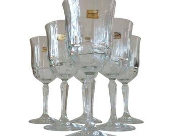 Pressed Glass Wine Glasses