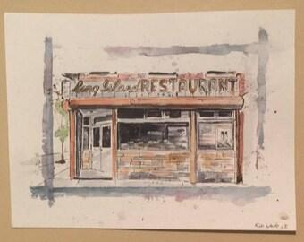 Long Island Restaurant painting