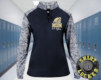 790e2001a3 Custom Football Mom Glitter Design Women s Performance 1 4 Zip Sport Shirt  Team Spirit Wear Support Your Favorite Player