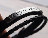 Custom Anniversary bracelet, custom bracelet, customized bracelet, Anniversary bracelet for boyfriend, couples bracelet, custom bracelet