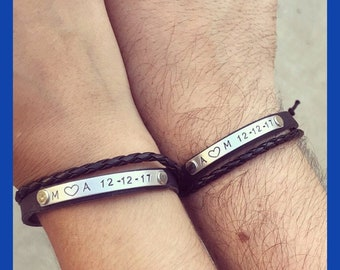 Couples Bracelets Etsy