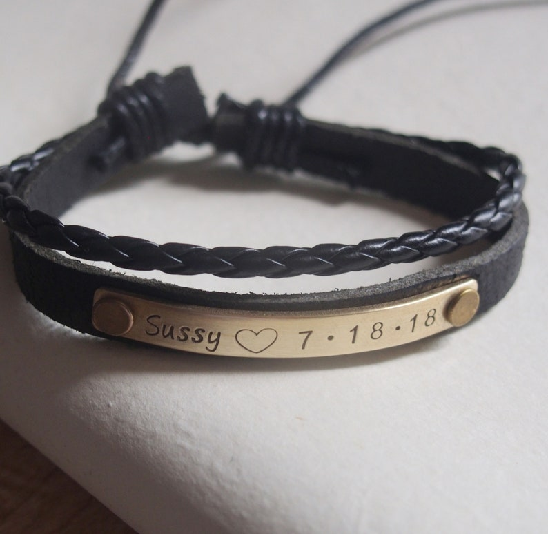 7e91bf1afaaa Customized bracelet Personalized bracelet leather bracelet