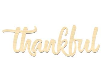 Thankful Sign- Thankful Wording Sign