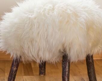 Woolly Footstool