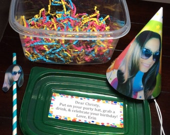 Send a Party Birthday Gift Box|Birthday Party in a Box Perfect Facetime Zoom Long Distance Gift Idea 21st 30th 40th 50th 60th 70 Celebration