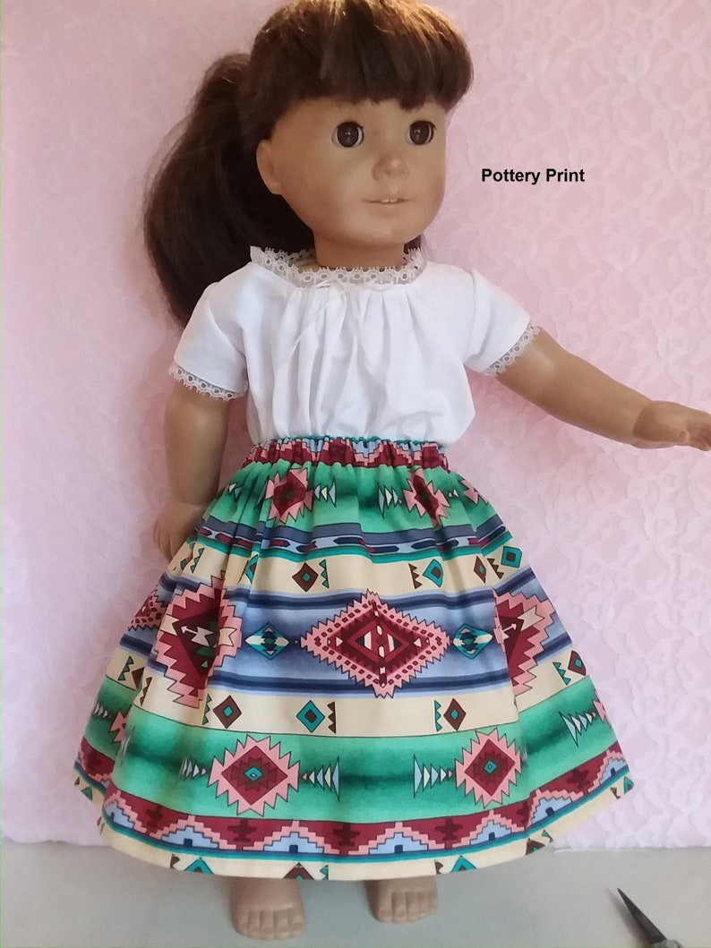 American Girl doll 18 doll clothes Choice of Southwest skirt with optional Camisa Josephina
