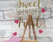 Love is sweet table wedding sign