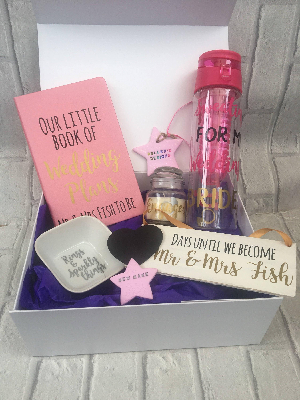 Personalised engagement gift box | Etsy