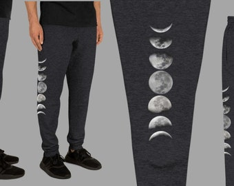 Wild Within XS-3XL Moon Phase Joggers Sweatpants Blue Green Galaxy