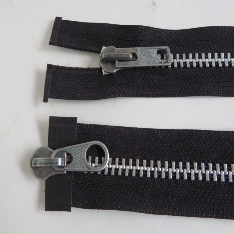 "Lot of 3 YKK #4 4mm Heavy Duty Closed-End White Zippers w// Gold Metal Teeth 3.5/"""