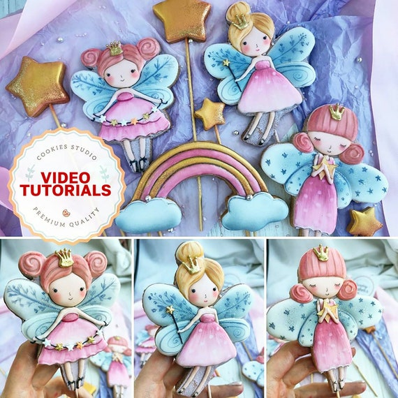 Fairy Girls - cookie decorating class. Step-by-step video tutorial