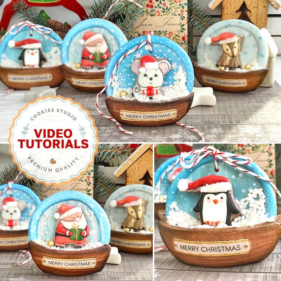 Christmas characters 3D. Cookie decorating class. Step-by-step video tutorial