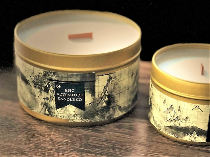 4 Oz Wood Wick Soy Pathfinder Class Gift DRUID +1 Wisdom  RPG Candle DnD Geeky Bookish Fantasy Decor for Gamers Bookworms Patchouli