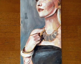 Formal Woman - [DOUBLE SIDED] Original Acrylic Painting