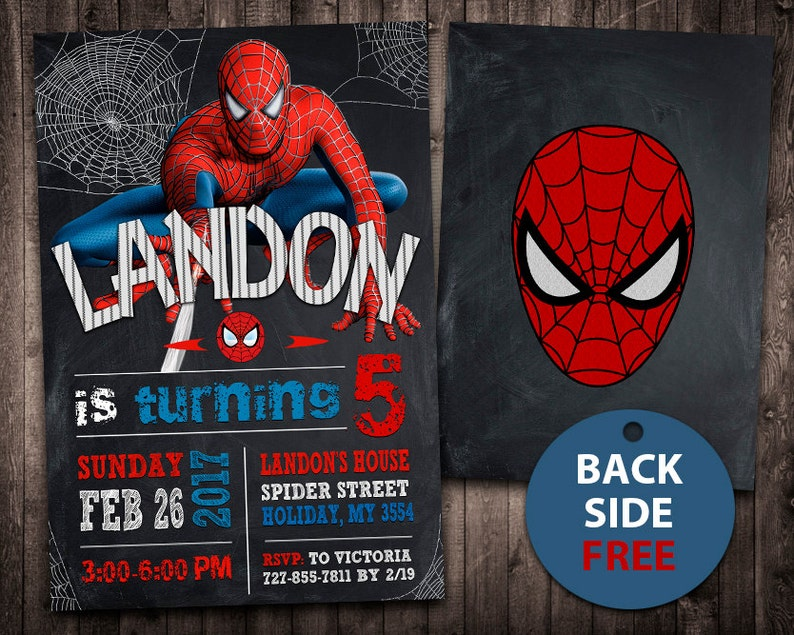 Spiderman Invitation Birthday