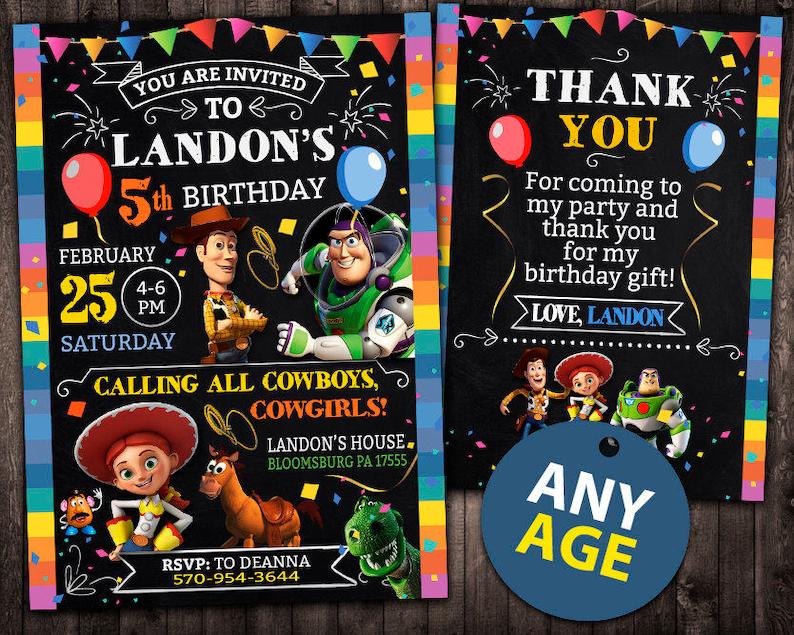 Toy Story Invitation Toy Story Birthday Invitation Toy Story Toy Story Printable Toy Story Card Toy Story Invite