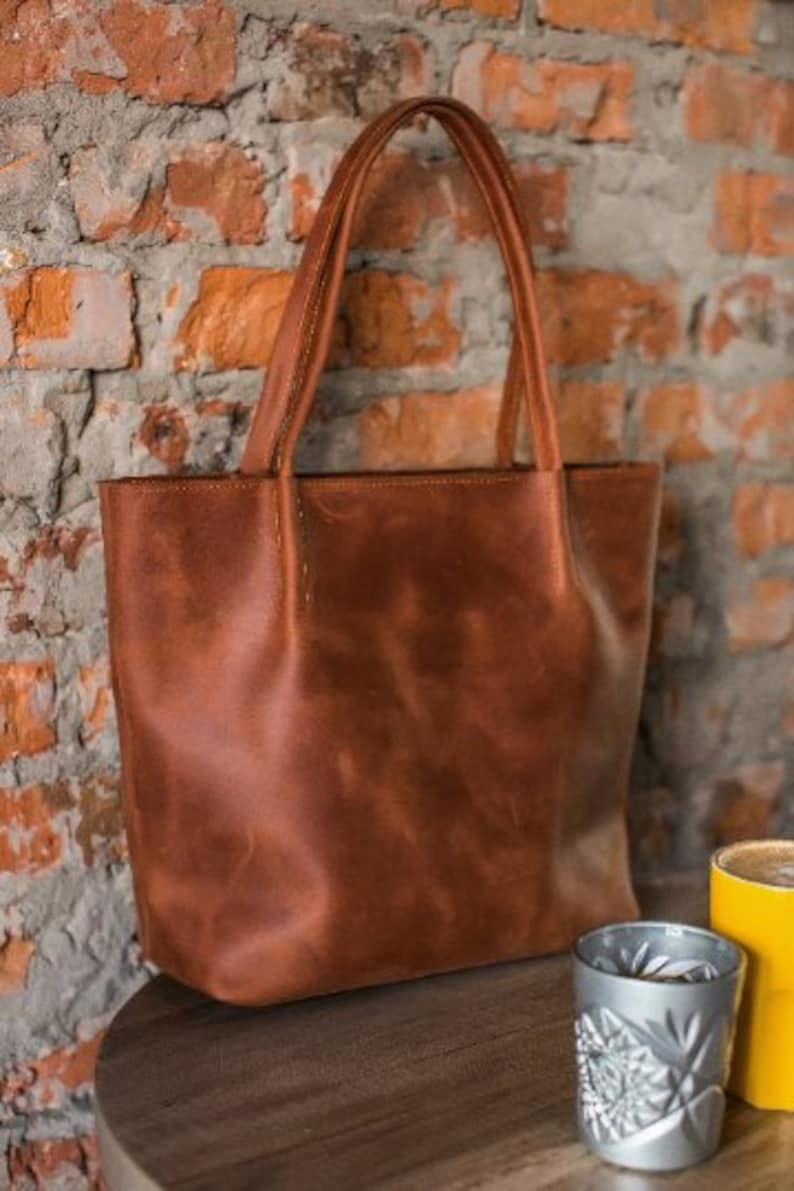 f255afe2dddc Leather tote bag, leather tote, leather handbag, laptop bag women, brown  shoulder bag, vintage leather tote, purse women, gift for her