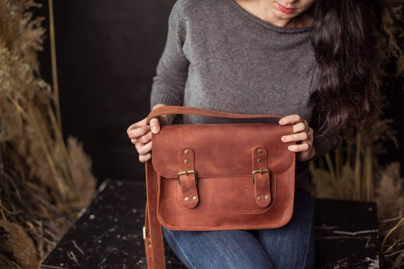 598e74045b62 Leather crossbody bag brown messenger bag leather camera