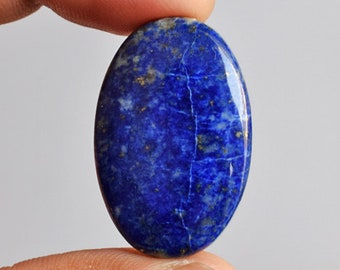 Beautiful Natural Blue Lapis Lazuli Oval Cabochon, Size 30x19x5 MM, Loose Semi Precious, Lapis Suppliers, Pendant Jewellery Gemstone, 11688