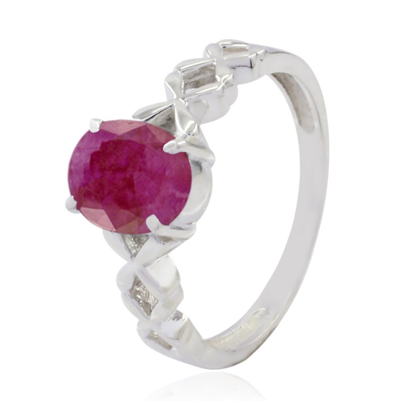 925 Silver Red Indianruby Genuine Gems Ring Genuine Gems Oval Faceted Indianruby ring top jewelry great selling items gift for graduat