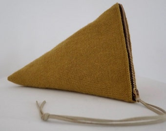 Knitted Guernsey Pouch