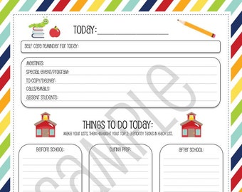 School Days Teacher's Personal Daily Organizer