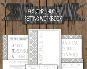 Personal Goal Setting Workbook, clean layout