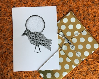 A4 Crow and the Moon